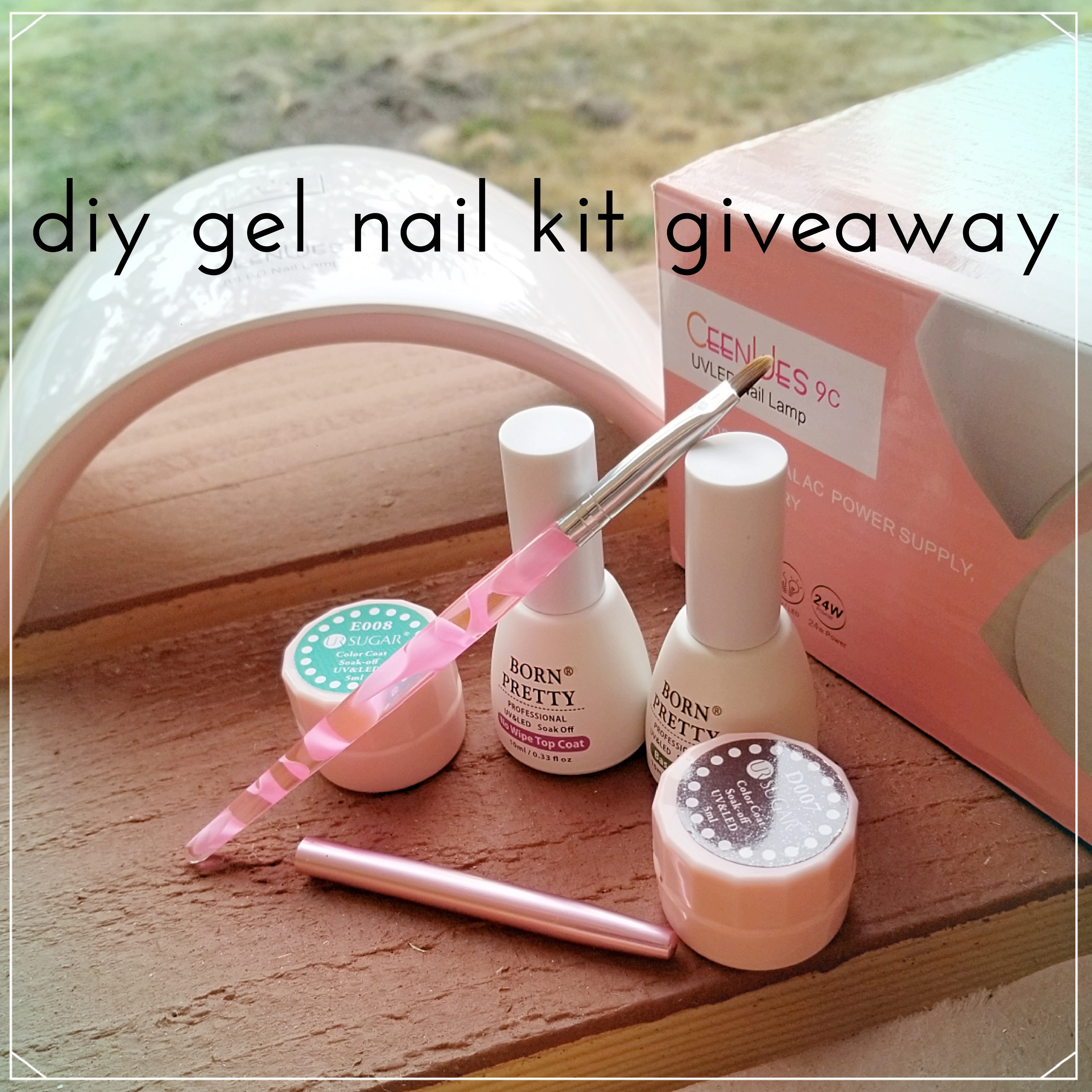 DIY gel nail kit giveaway