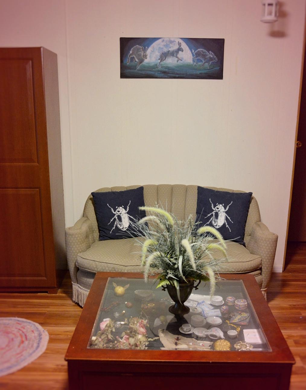 Temporary Boho Living Room Design