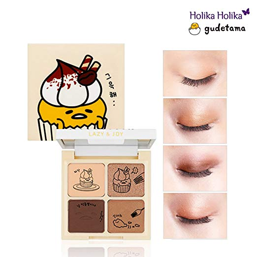Korean Beauty Gudetama Cupcake Eyeshadow Palette