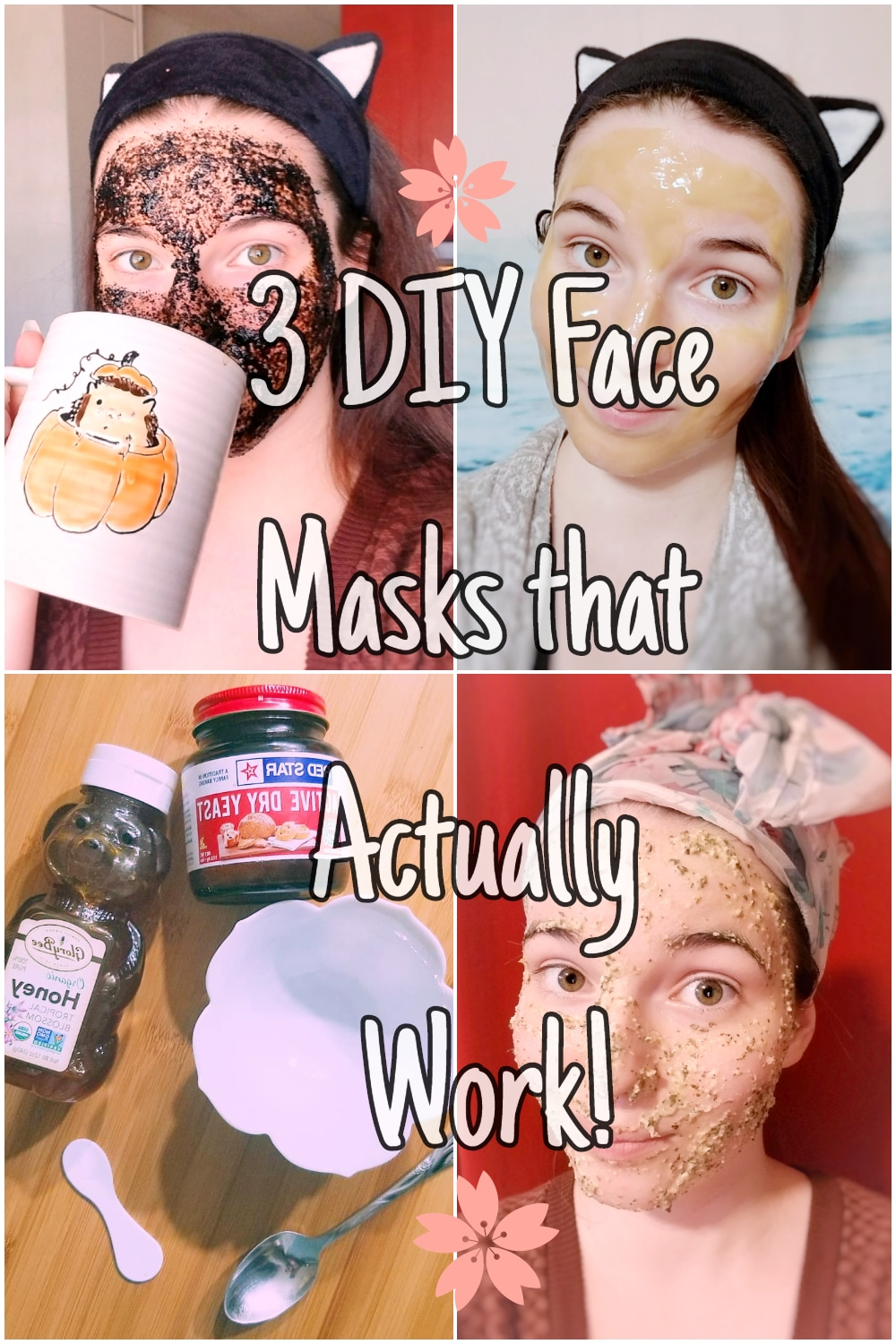 3 DIY Face Masks That Actually Work! 3 natural recipes and full tutorial