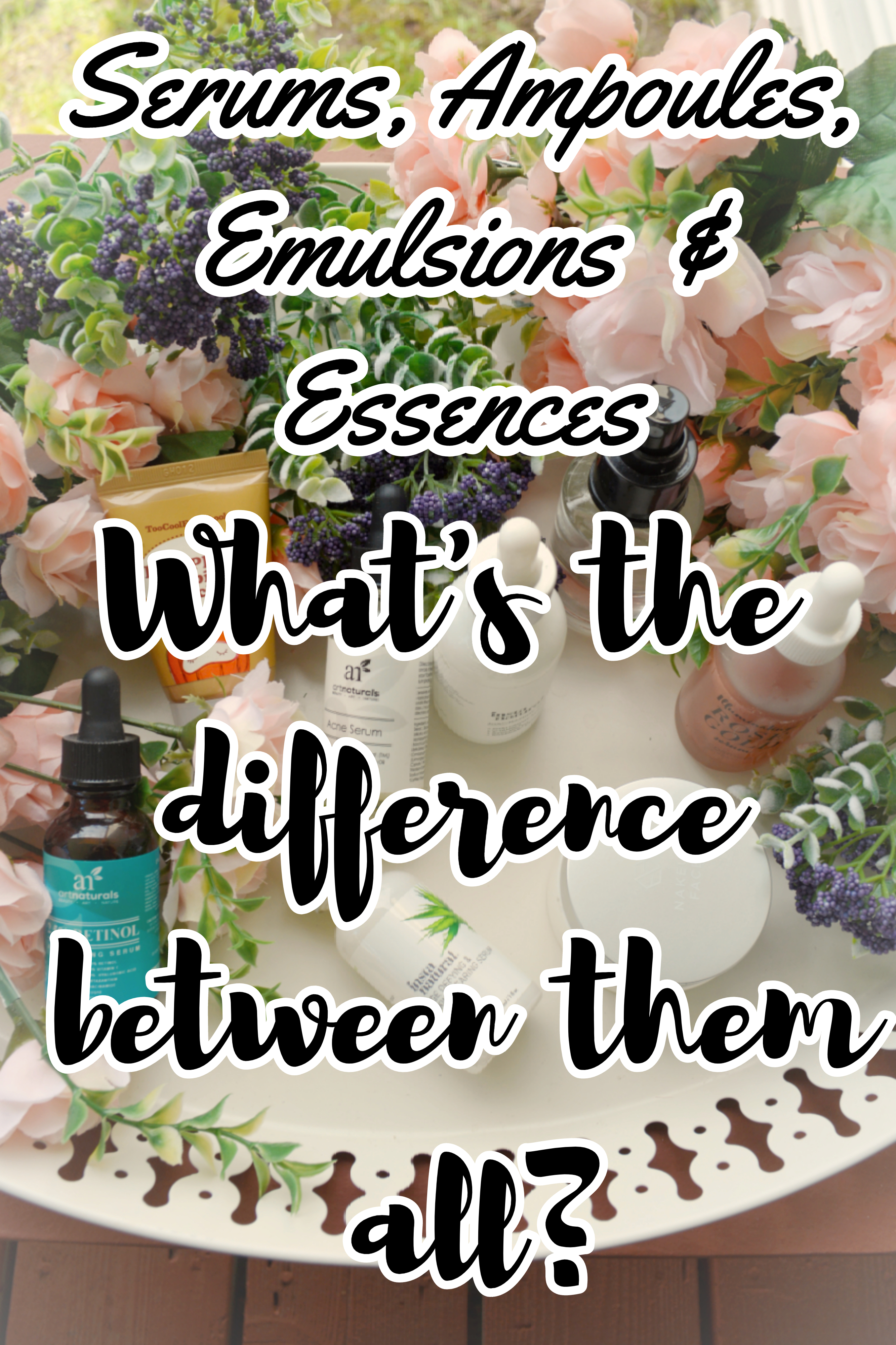 Serums, ampoules, essences, and emulsions, what's the difference between them?