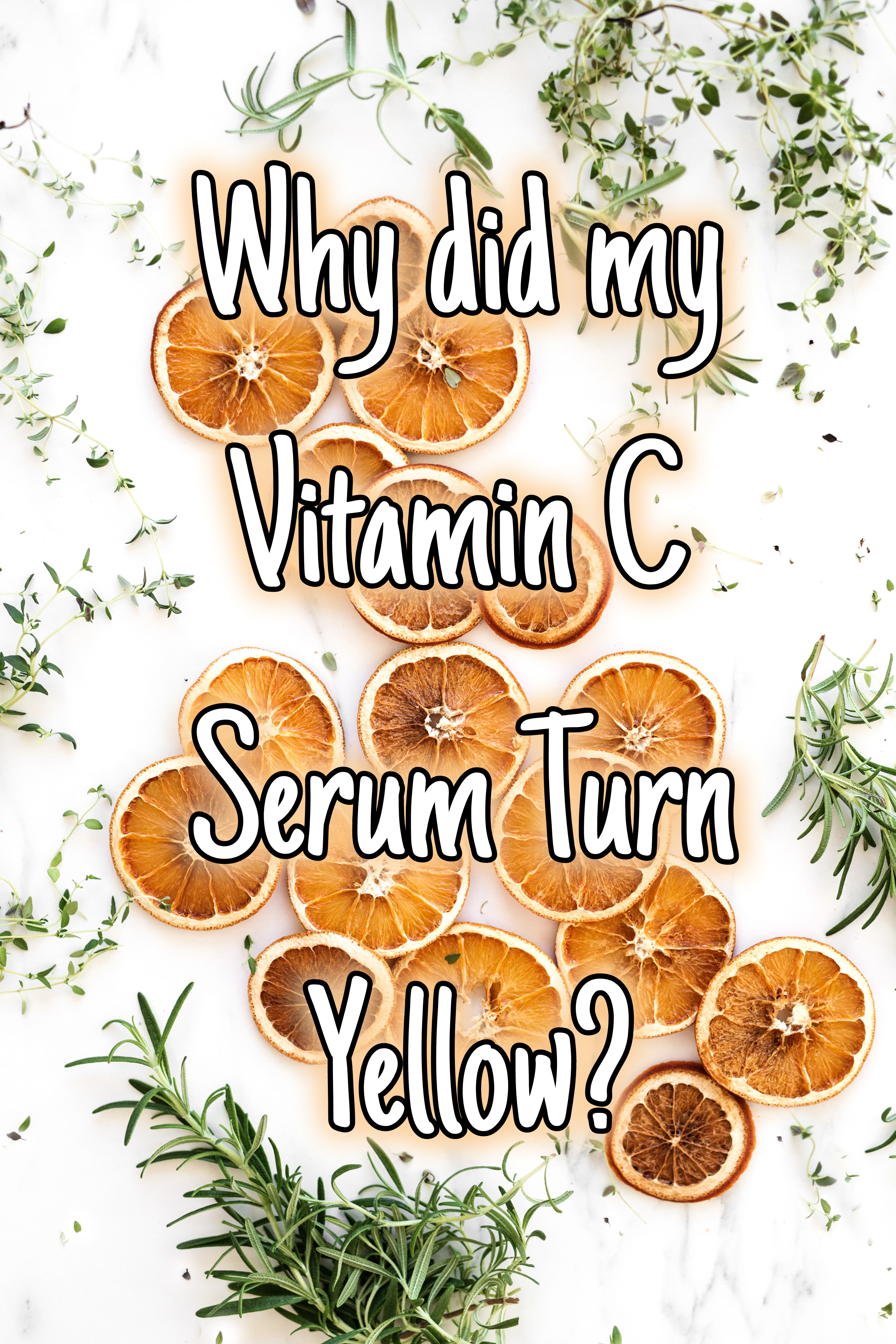 Why did my Vitamin C Serum Turn Yellow? Here's why and how to stop it!