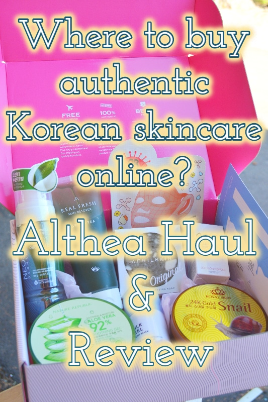 Althea Korean Skincare Review & Haul