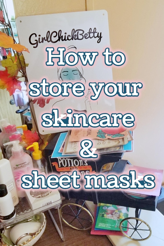 Skincare Storage: How to store skincare and sheetmasks