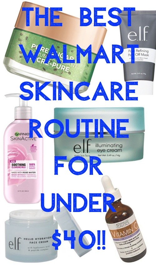 Walmart skincare routine: how I built the best skincare routine for under $40!