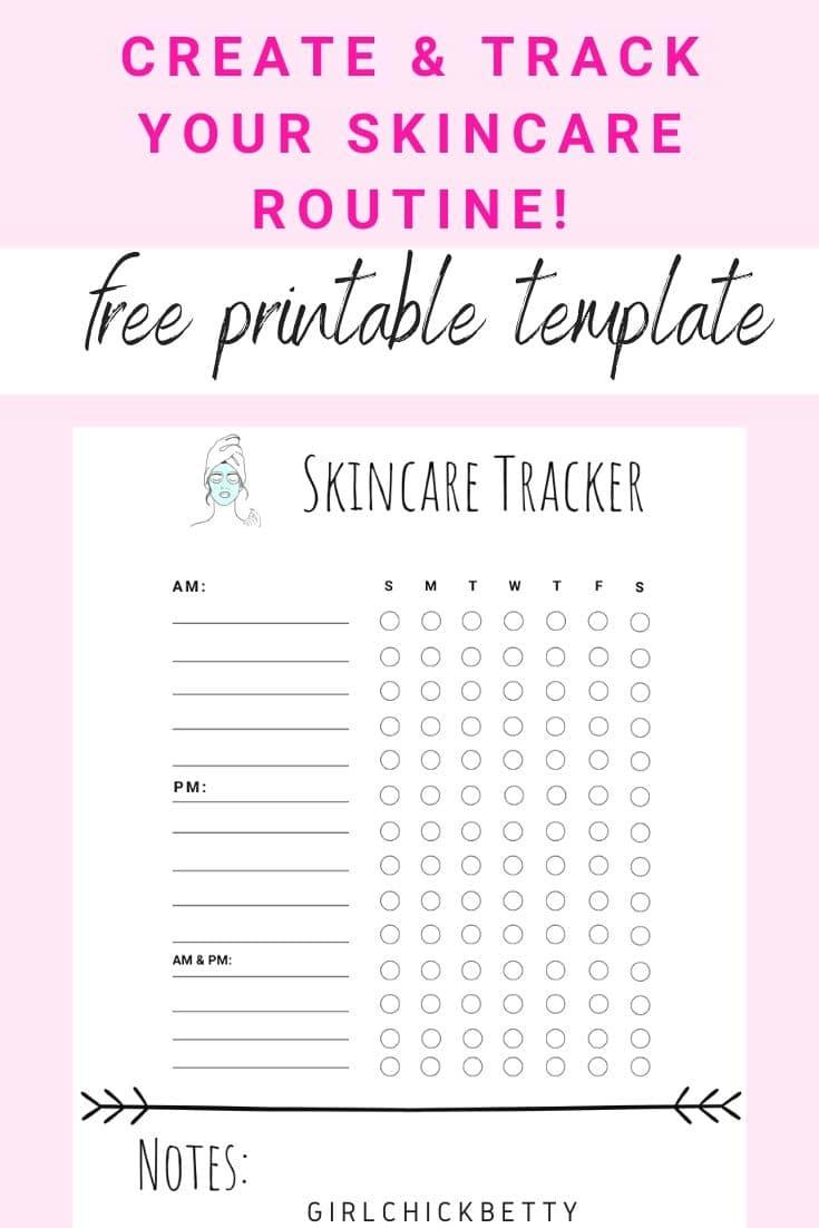 Free Skincare Tracker Planner Template