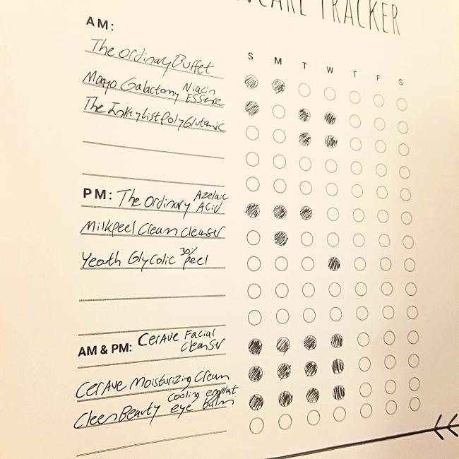 Free Skincare Tracker Journal Template